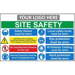 Site safety sign 1200x800mm