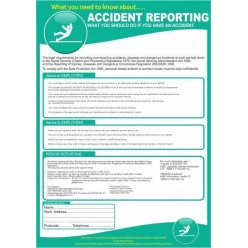 Accident reporting poster 420x595mm