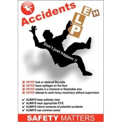 Accidents help 420x595mm poster