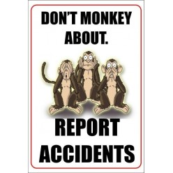 report accidents poster 400x600mm
