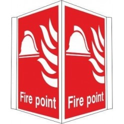 Projecting fire alarm call point sign 400x300mm