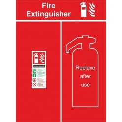 Fire extinguisher location panel 600x800mm
