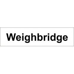 Weighbridge door sign 600x150mm