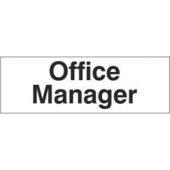 office manager door sign 300x100mm