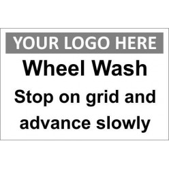 Wheel wash sign with or without your logo