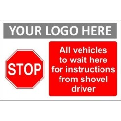 Stop sign with or without your logo