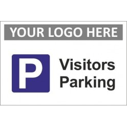 Visitors parking sign with or without your logo