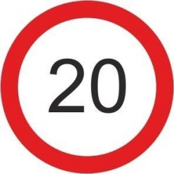 20 mph speed limit sign 600mm diameter sign