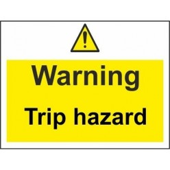 warning open pit 600x450mm stanchion sign