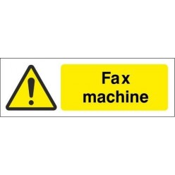 Fax Machine Equipment Label - 50mm x 20mm