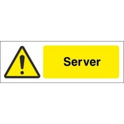 Server Equipment Label - 50mm x 20mm
