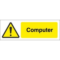 Computer Equipment Label - 50mm x 20mm
