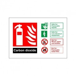 Carbon Dioxide Fire Extinguisher Identification Sign - 150mm x 100mm