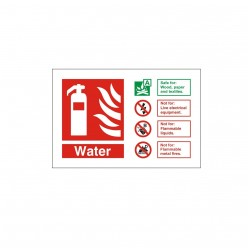Water Spray Fire Extinguisher Identification Sign - 150mm x 100mm