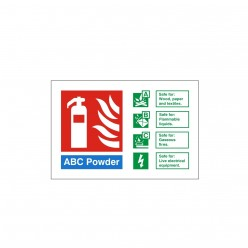 ABC Powder Fire Extinguisher Identification Sign - 150mm x 100mm