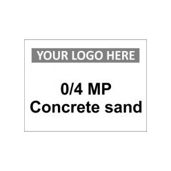 0/4 MP Concrete Sand Custom Logo Sign
