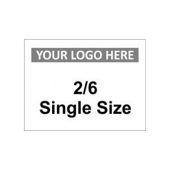 2/6 Single Size Custom Logo Sign