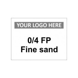 FP Fine Sand Custom Logo Sign