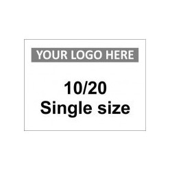 10/20 Single Size Custom Logo Sign