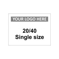 20/40 Single Size Custom Logo Sign