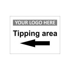 Tipping Area Left Custom Logo Sign
