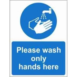 Please Wash Only Hands Here Mandatory Sign