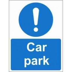 Car Park Mandatory Sign
