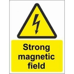 Strong Magnetic Field Warning Sign
