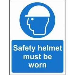 Safety Helmet Must Be Worn Mandatory Sign