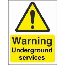Warning Underground Services Warning Sign