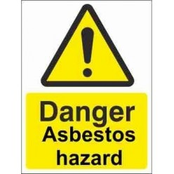 Asbestos Hazard Warning Sign