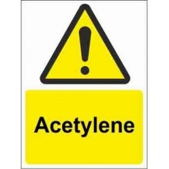 Acetylene Warning Sign