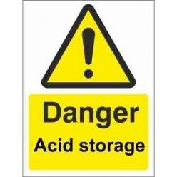 Acid Storage Warning Sign