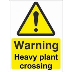 Heavy Plant Crossing Warning Sign
