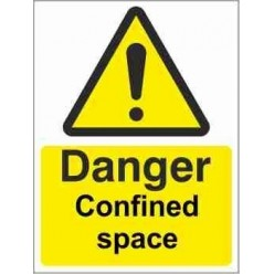 Danger Confined Space Warning Sign