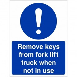 Remove Keys From Fork Lift...