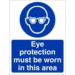 Eye Protection Must Be Worn...