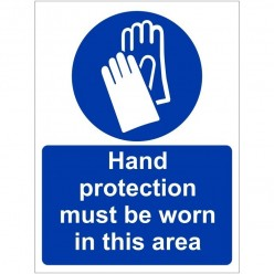 Hand Protection Must Be...