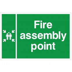 Fire Assembly Point Sign 600 x 400mm