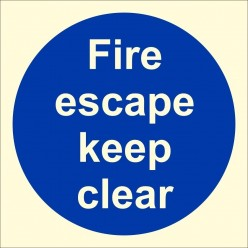 Fire Escape Keep Clear...