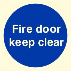 Fire Door Keep Clear...