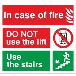 Fire Instruction Sign 150 x...