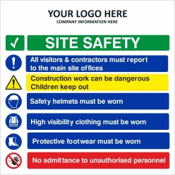 Corporate Site Safety Sign