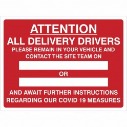 Delivery Drivers Covid 19...
