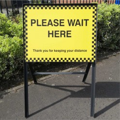 Please Wait Here Sign 600mm...