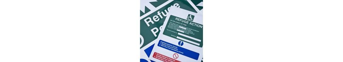 Fire Refuge Signs